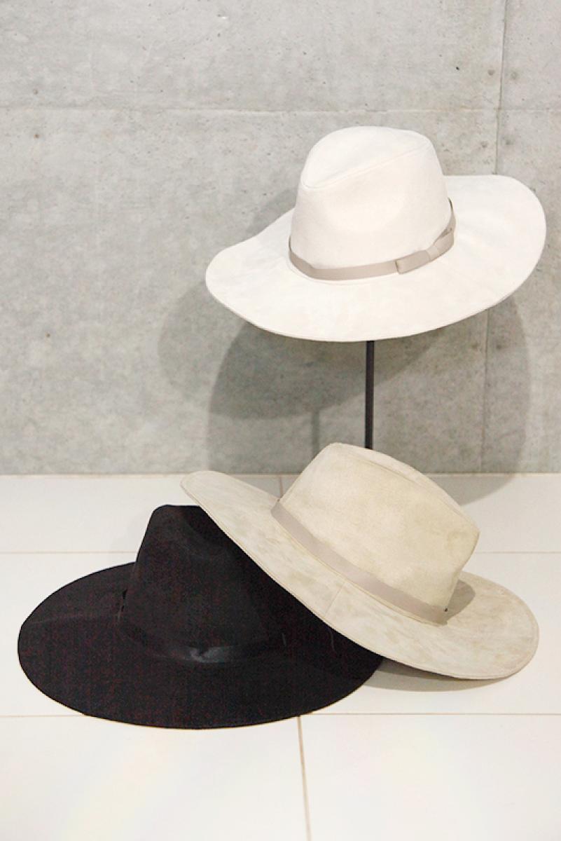 Suede Wide Hat