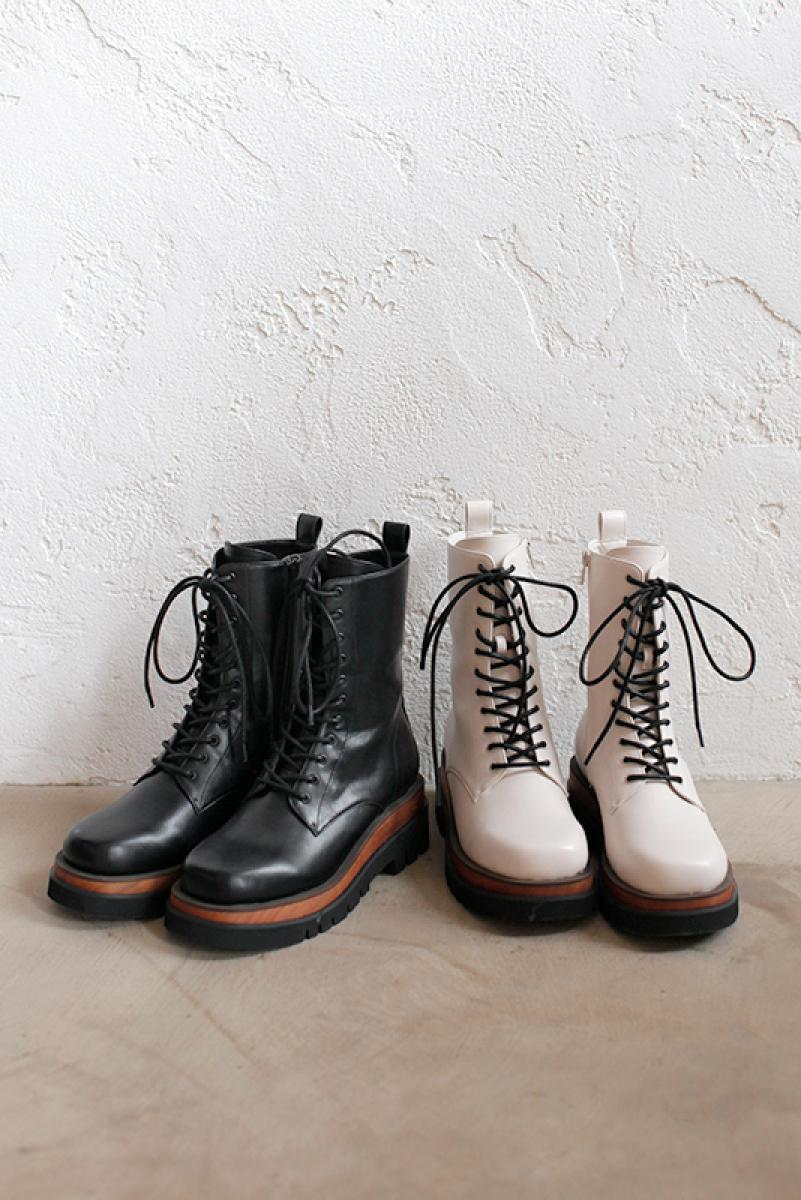 Lace-up Short Boots