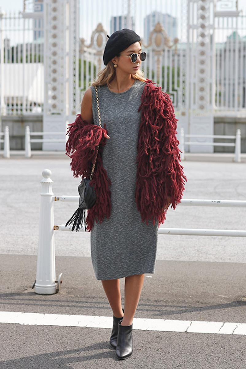 Bushy Knit Coat