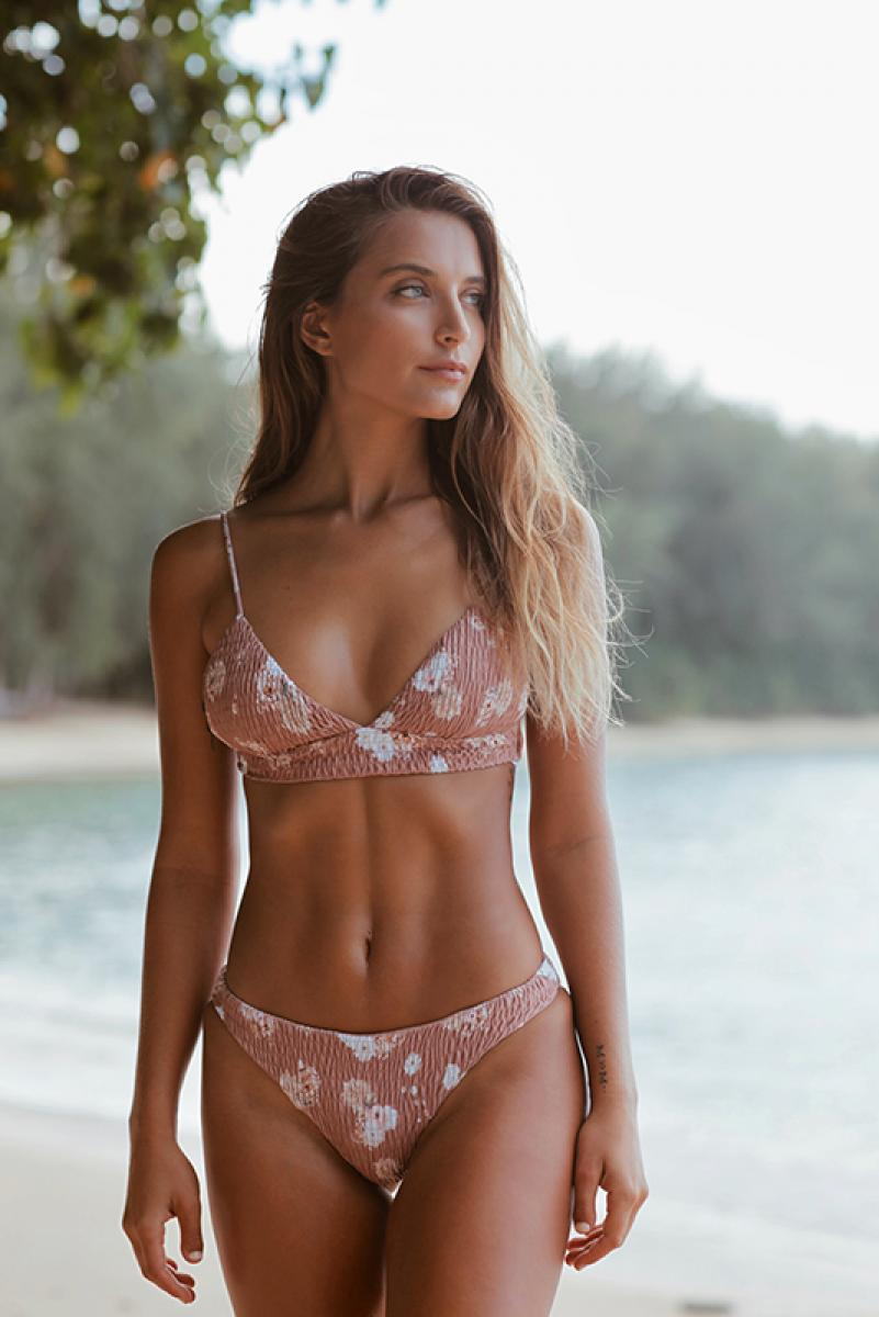 Back Cross Triangle Bikini Havana Rose