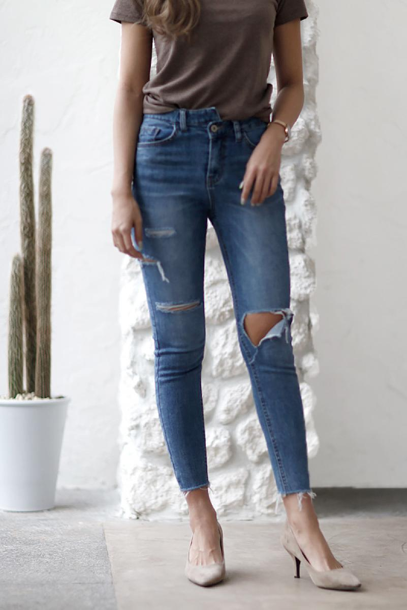 Dark Wash Design Skinny Denim