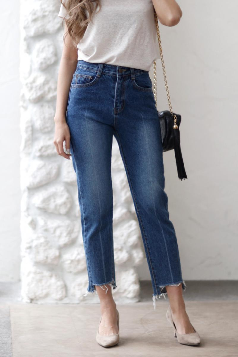 Cropped Hi-waste Denim