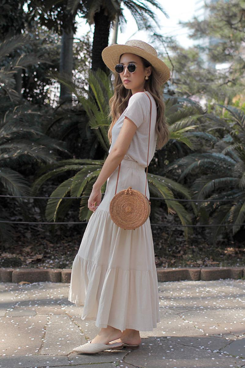 Joint Flare Maxi Skirt