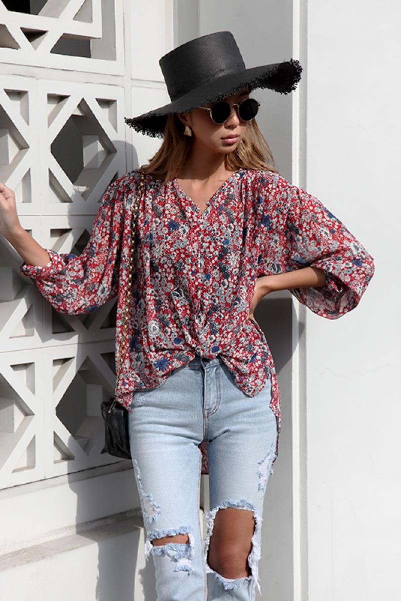 Sheer Classic Flower Shirt