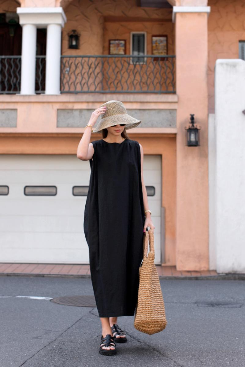 Tuck Sleeve Cocoon One-piece