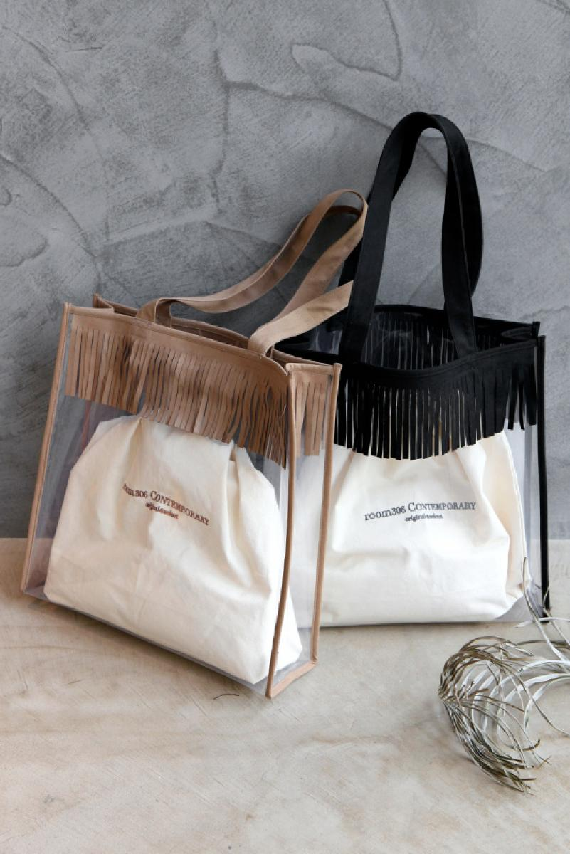 Fringe Big Clear Bag