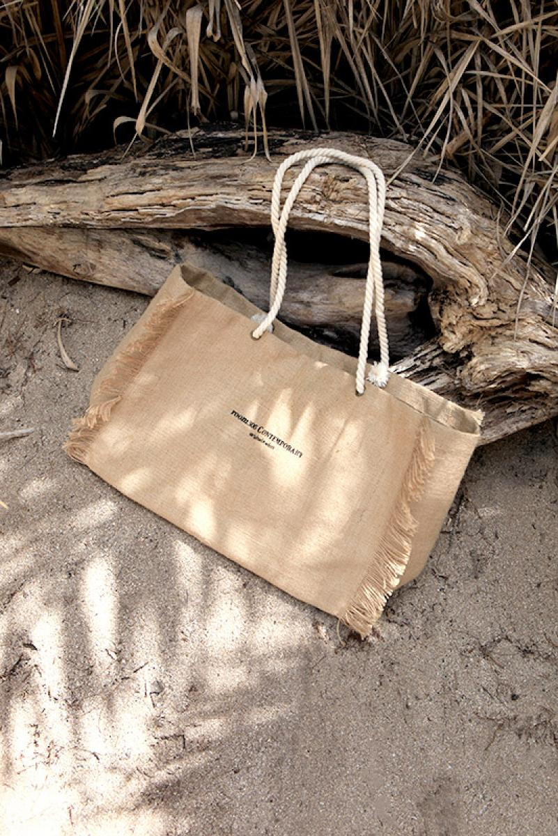 Rope Design Jute Bag