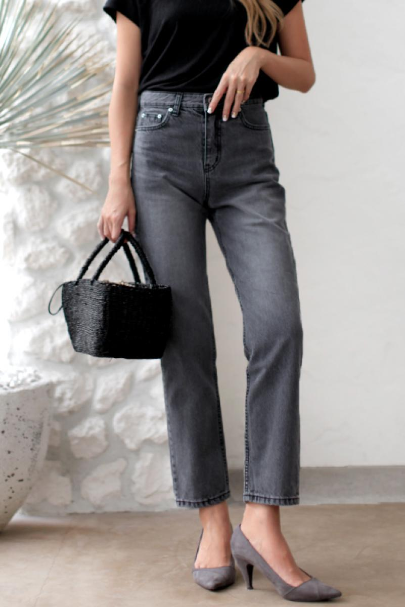 Black Wash Denim Pants