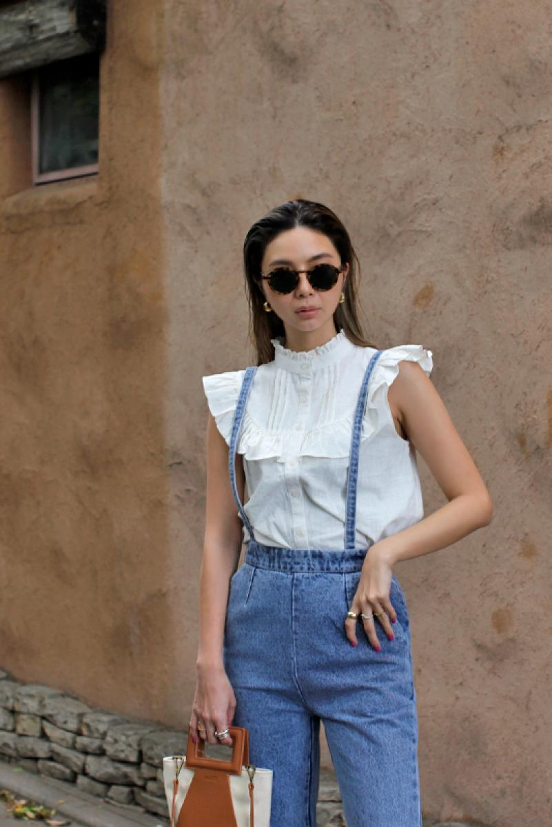 Frill Design Sleeveless Shirt