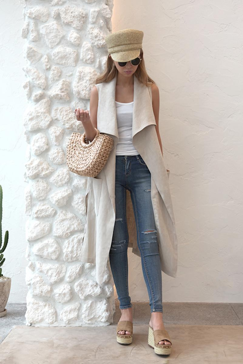 Slit Long Gillet