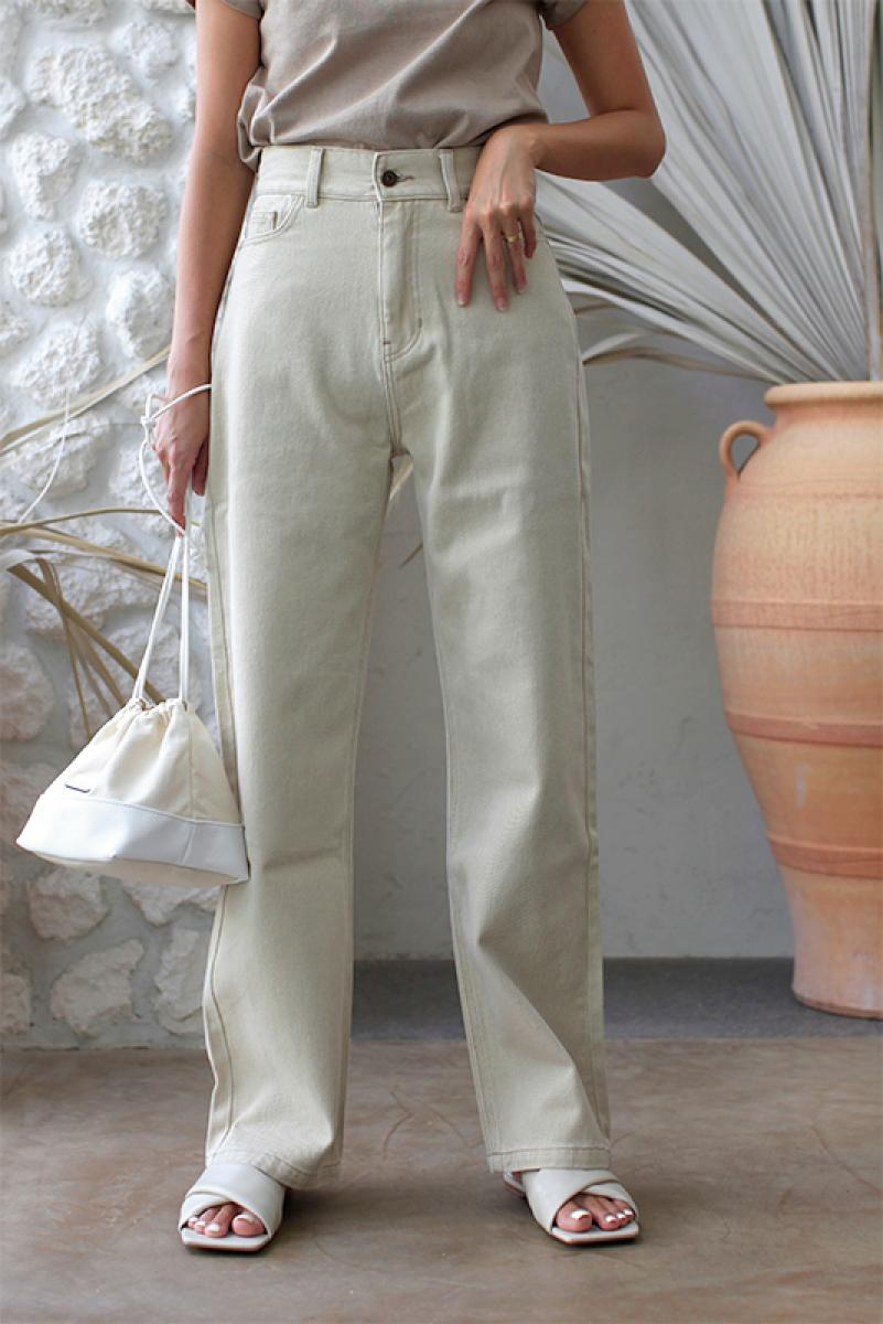 Stitch Straight Wide Pants