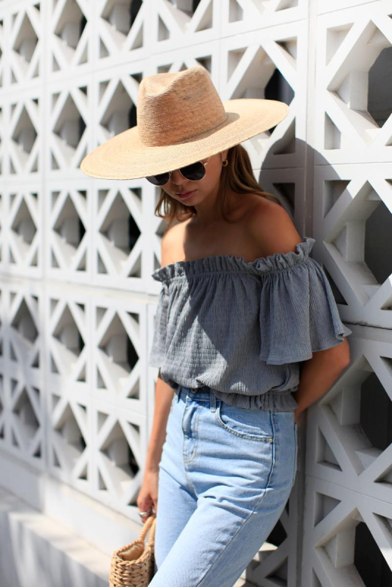Off Shoulder Shirring Tops