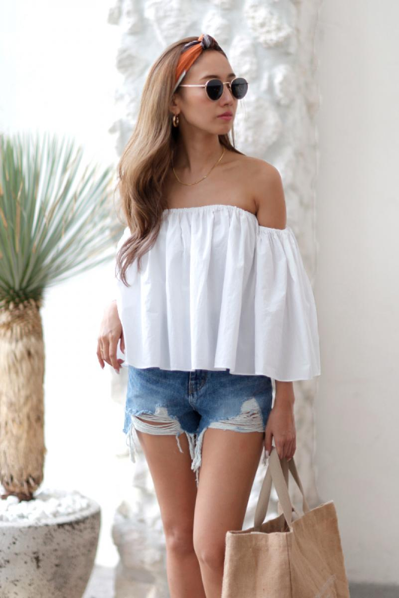 Flare Off Shoulder Tops