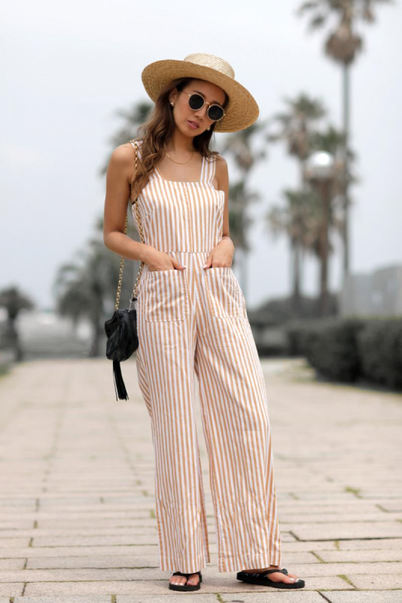 [ROLLA'S]SAILOR STRIPE JUMPSUIT
