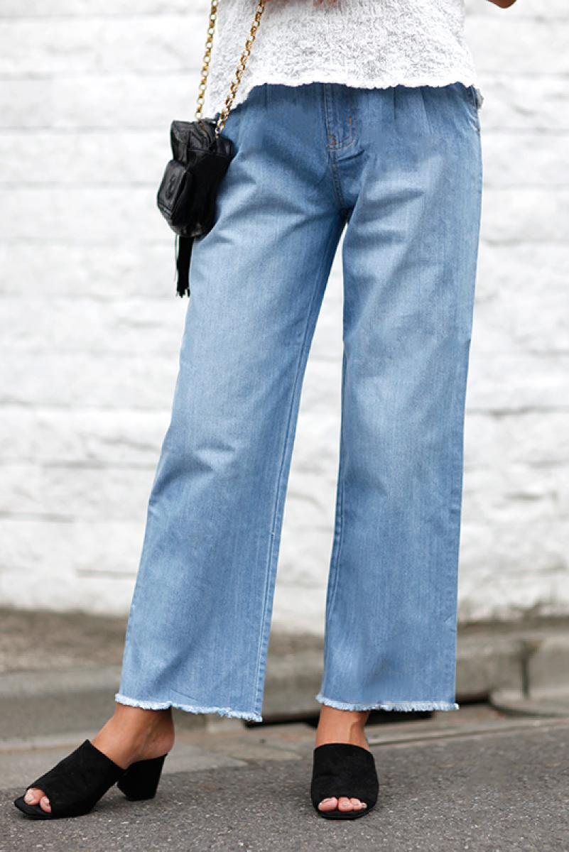 Fringe Wide Denim