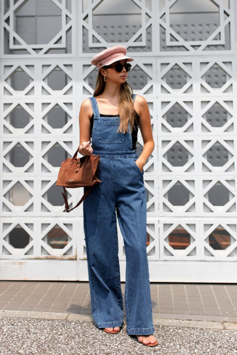 Denim Wide Salopette