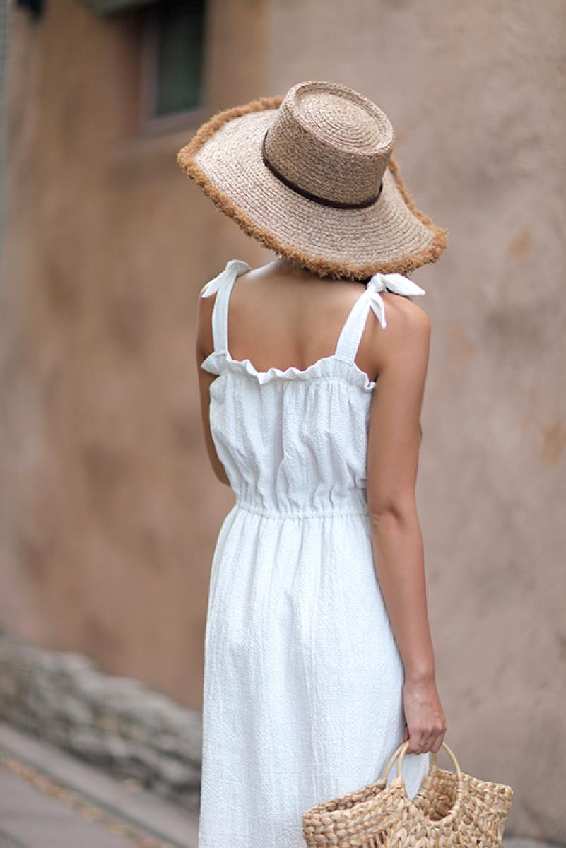 Ribbon Shoulder One-piece