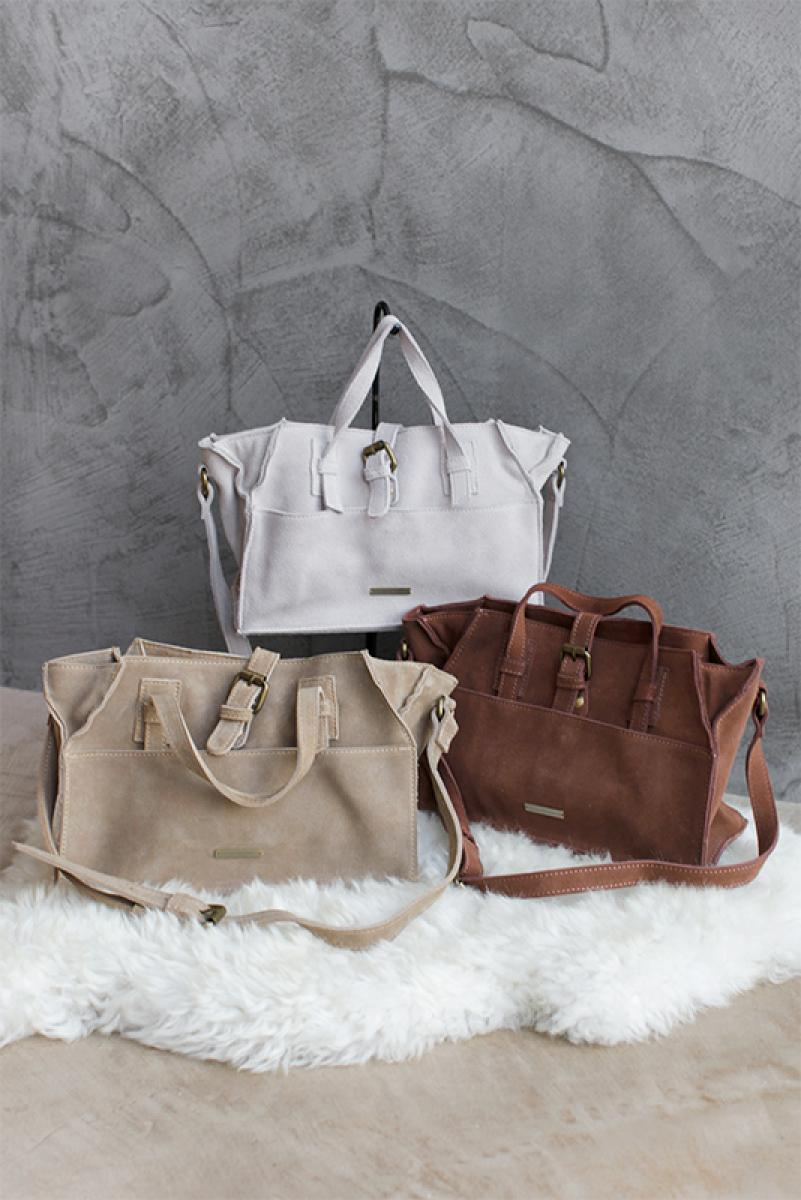 Suede Real Leather Mini Hand Bag