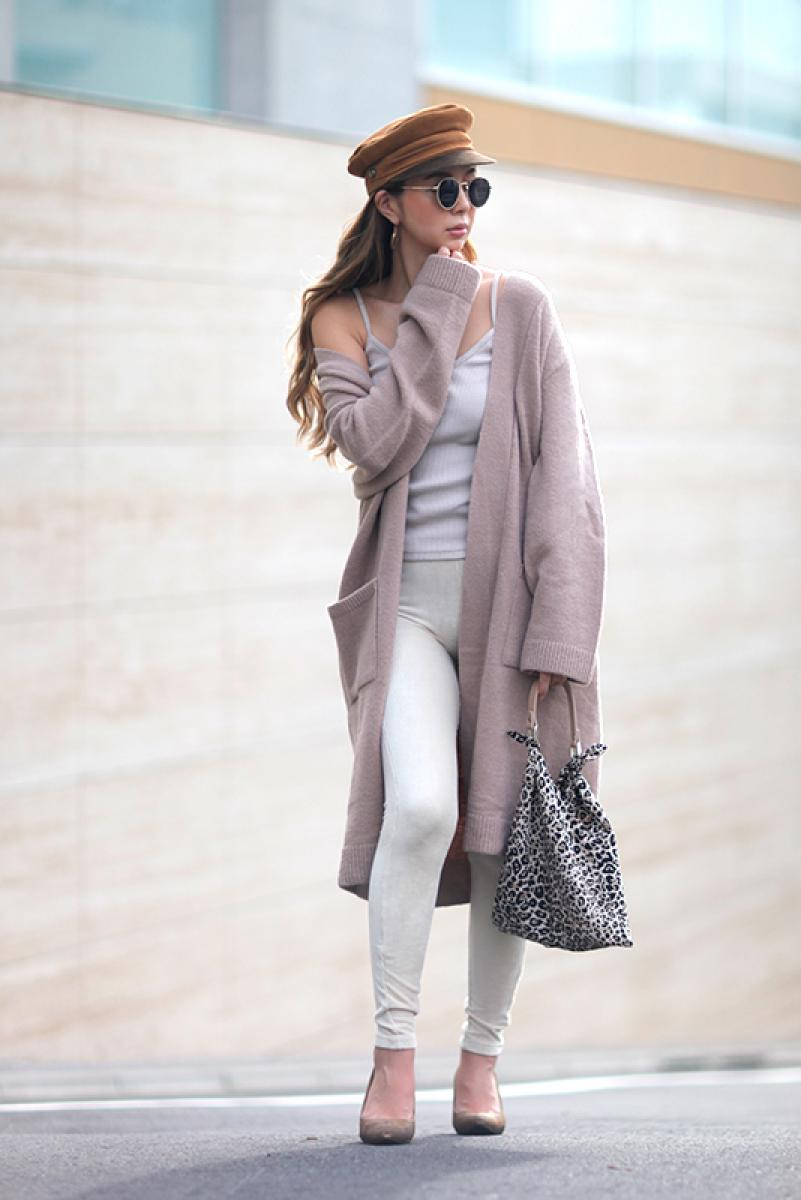 Plain Long Knit Cardigan