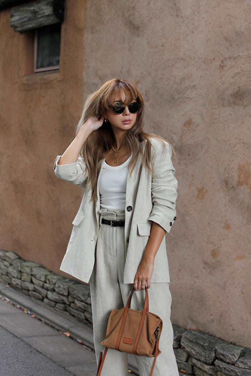 Linen Blend Tailored Jacket