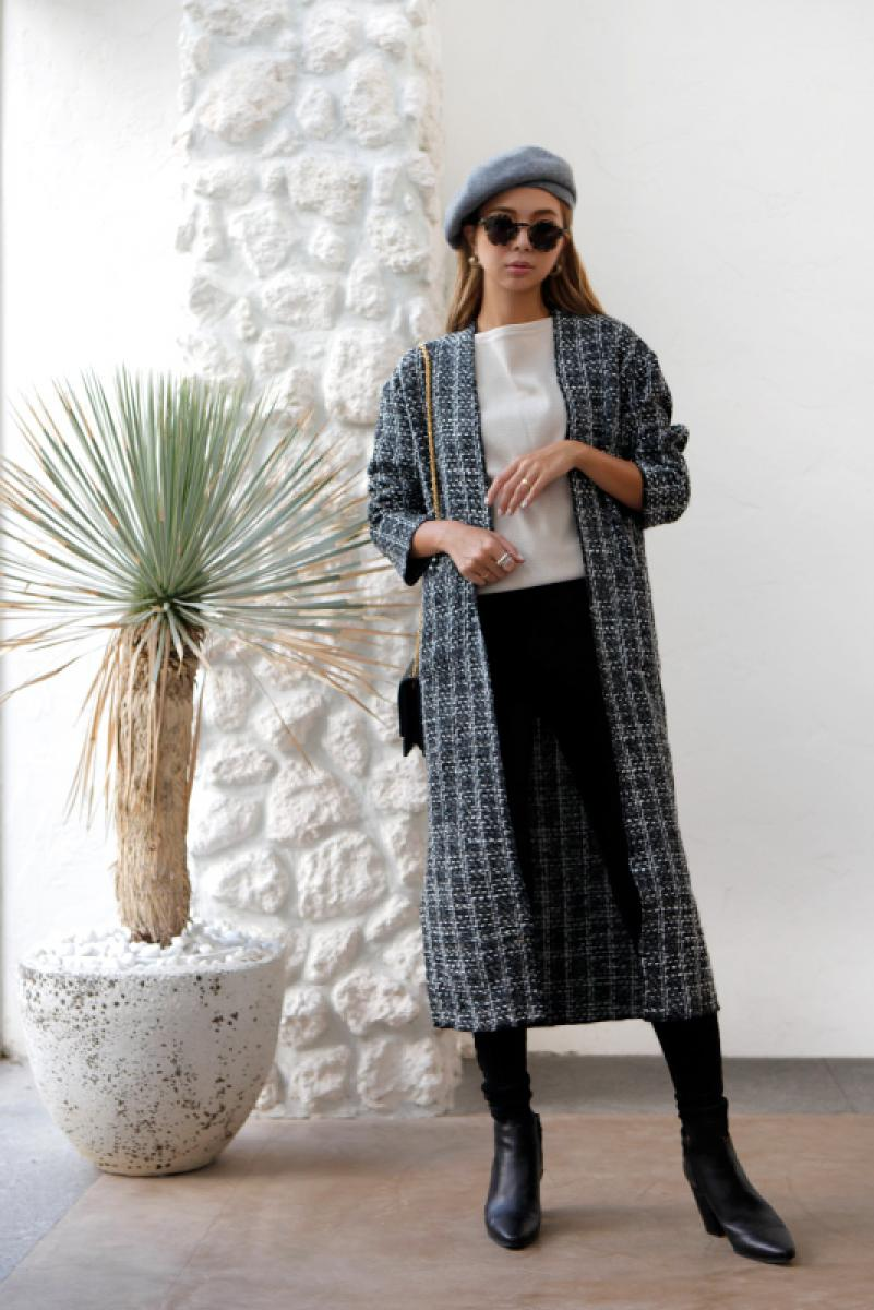 Tweed Long Gown