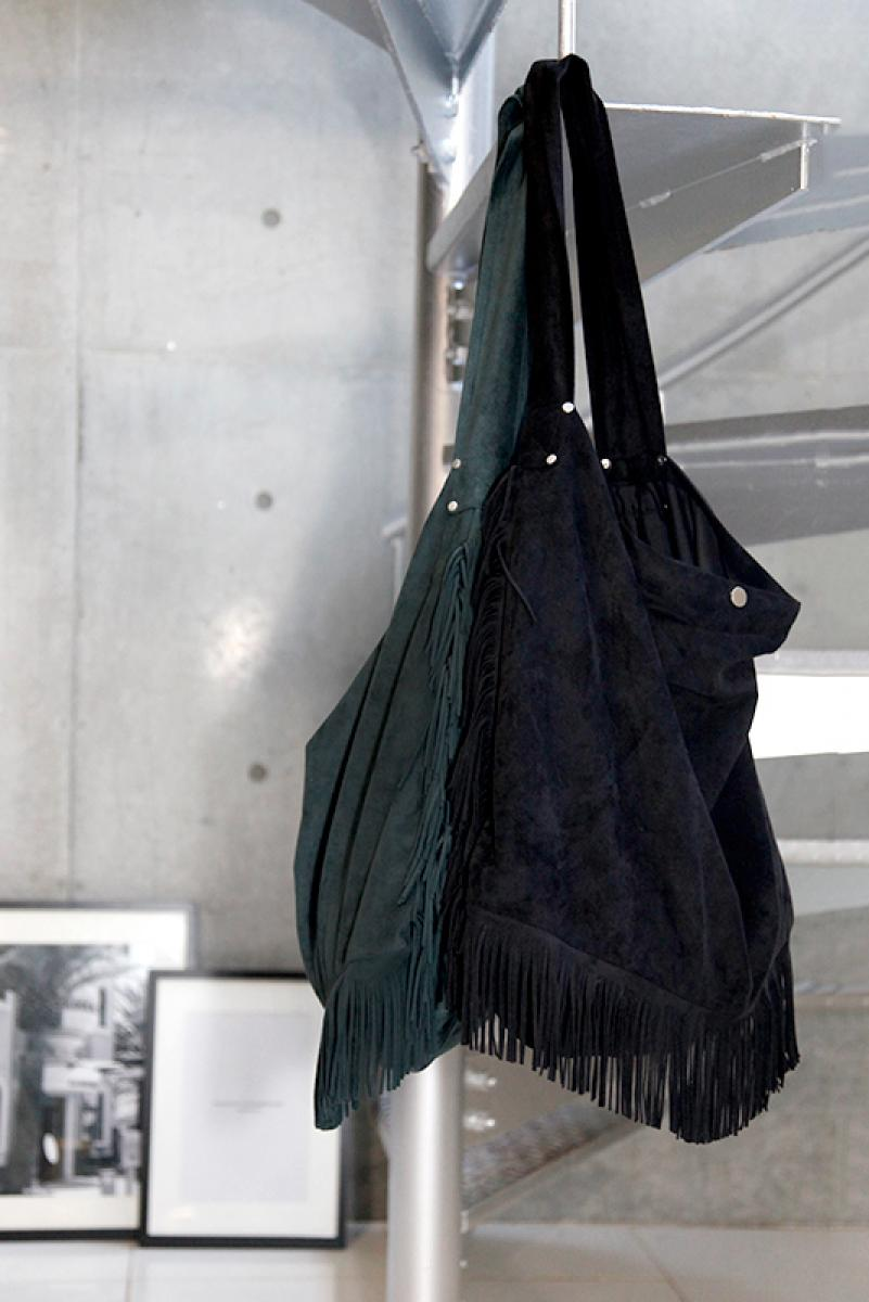 Suede Big Fringe Bag
