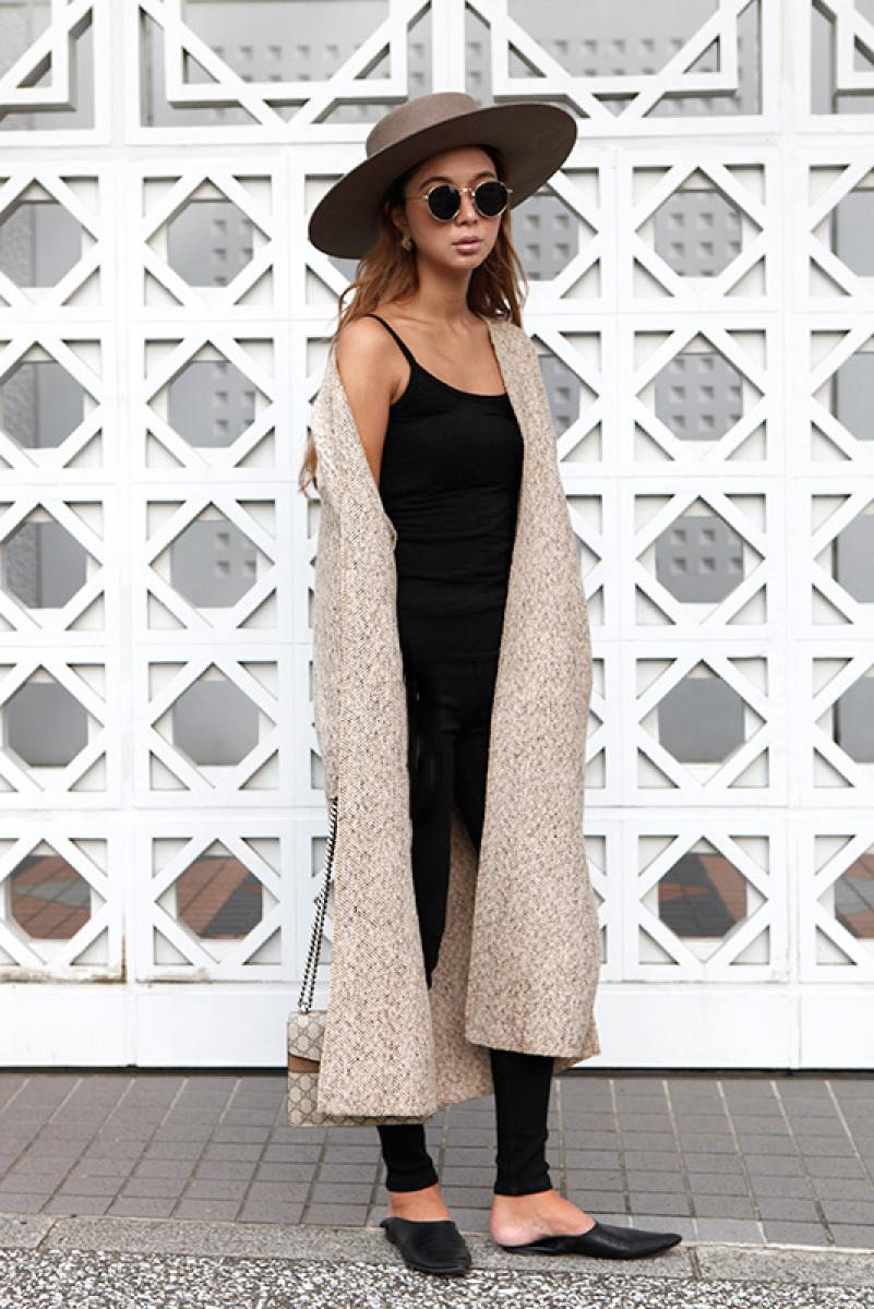 Tweed Long Cardigan