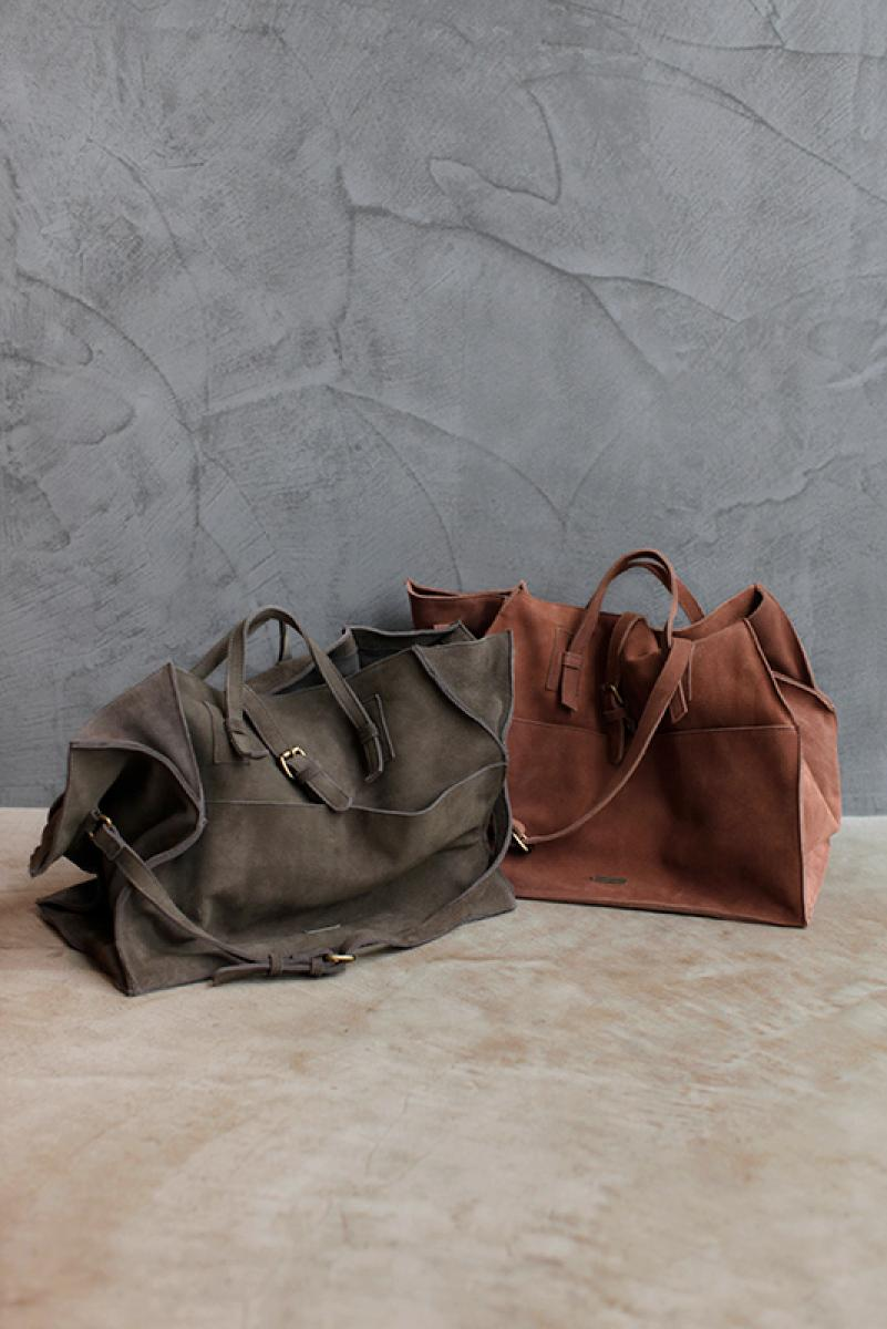 Suede Real Leather Hand Bag