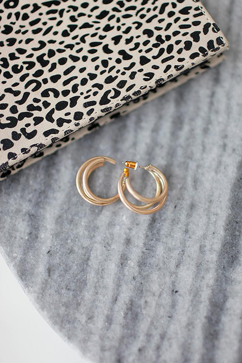 Triple Ring Gold Pierce