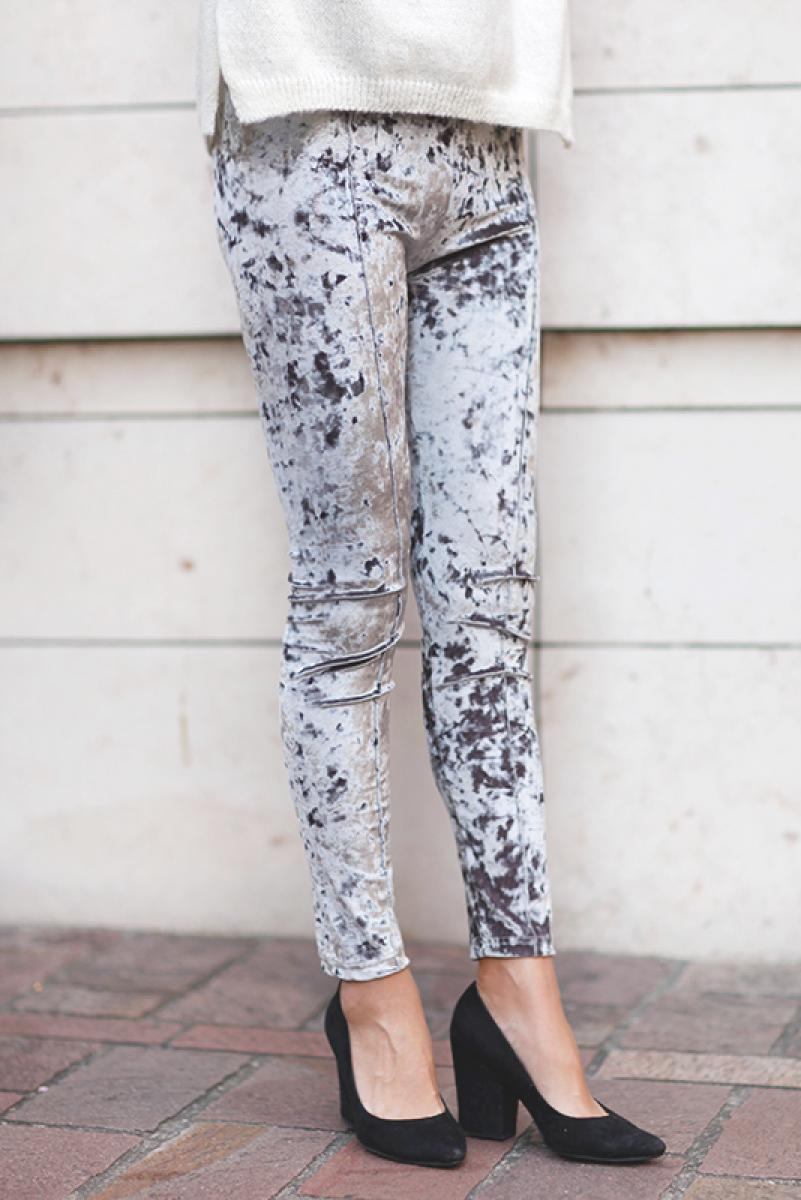 Velvet Hi-waist Leggings Pants