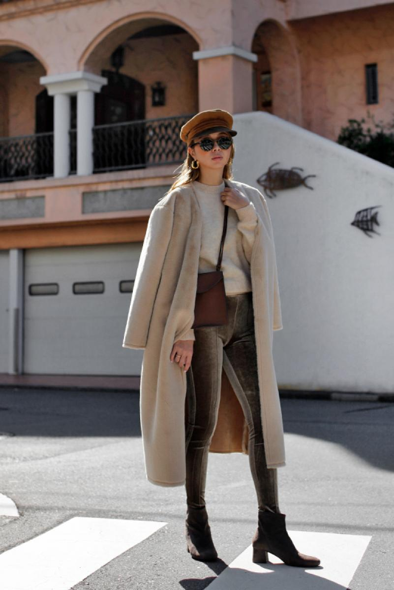 Mouton Reversible Fur Coat