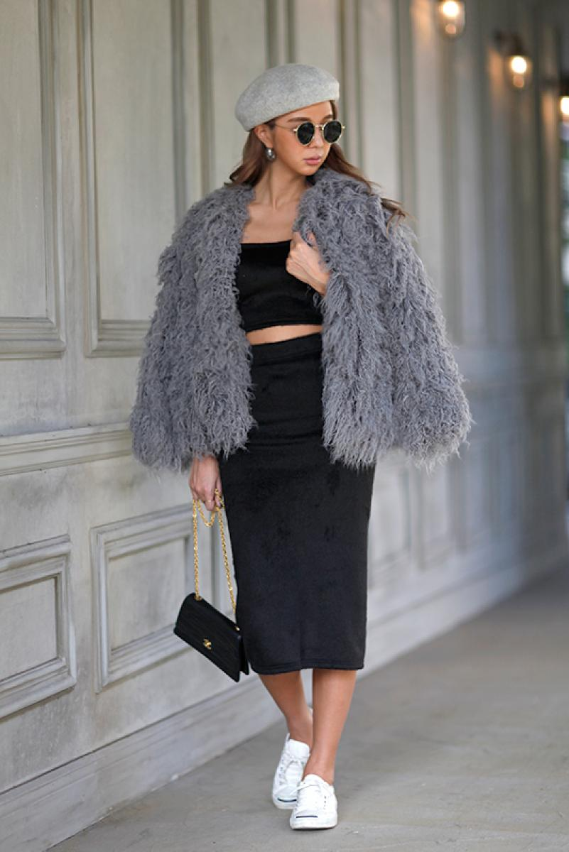 Volume Short Fur Coat