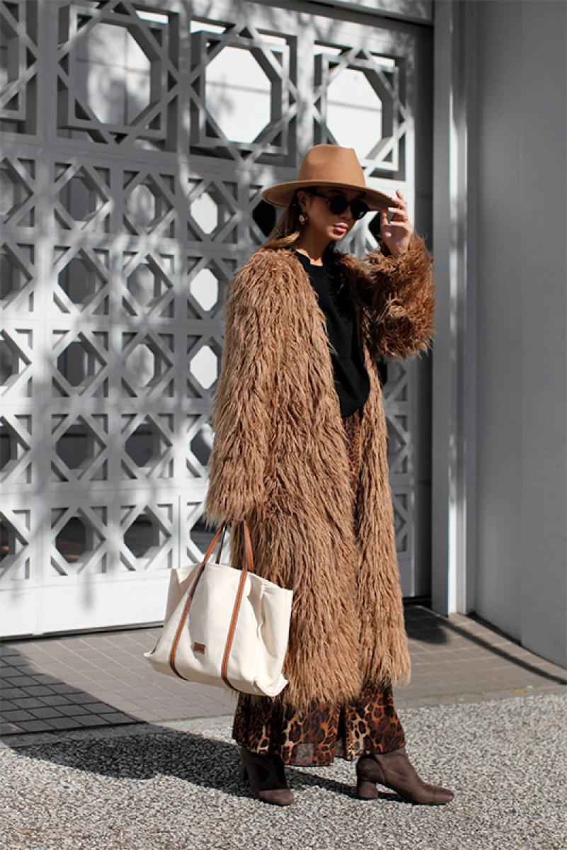 Volume Long Fur Coat