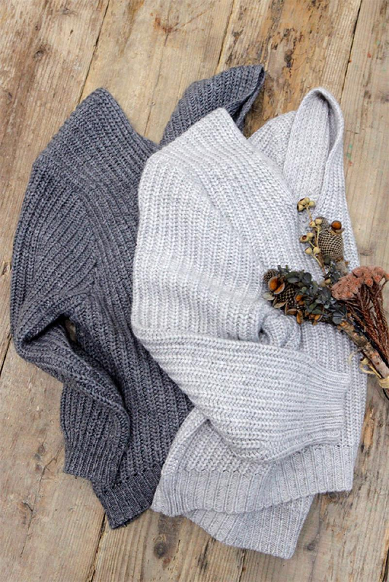 Mix Color Loose V Knit