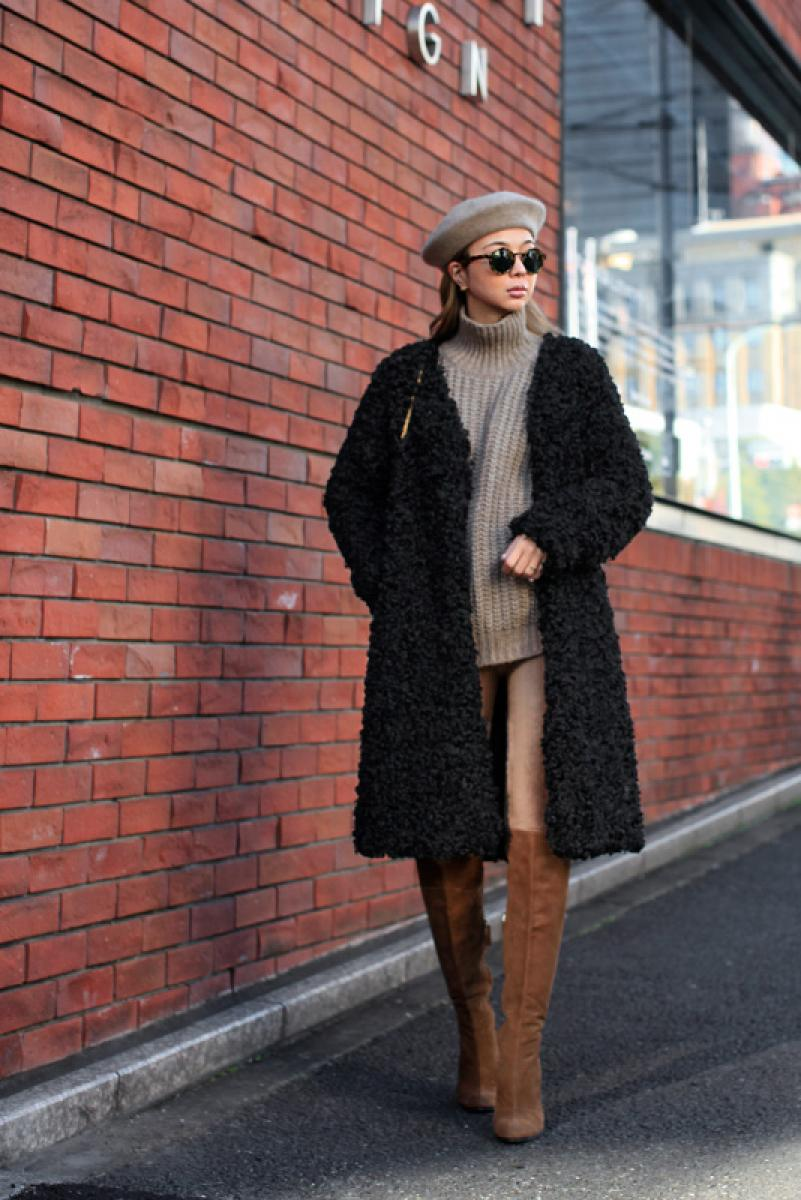 Curl Long Fur Coat