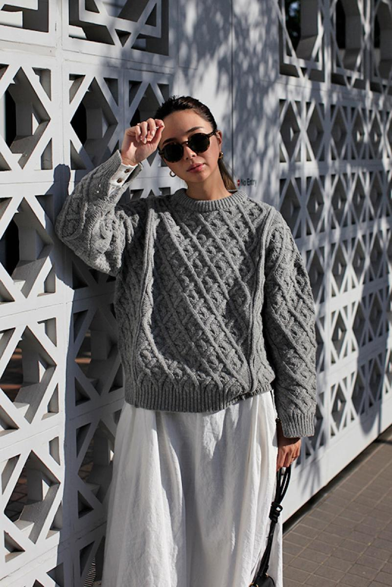 Braided Design Knit Tops