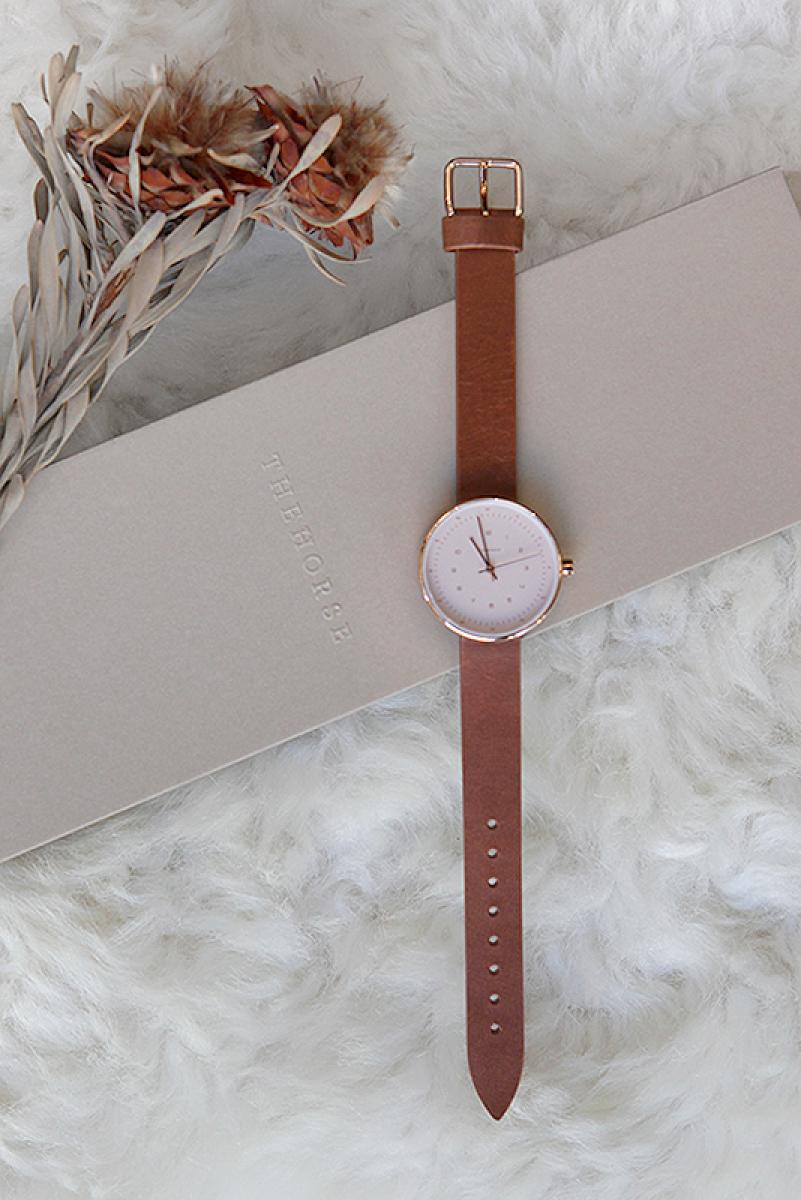 [THE HORSE]Rose Gold Tan Strap