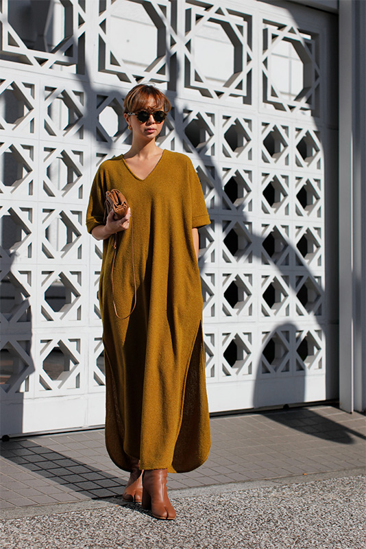 Roll-up Sleeve Long One-piece