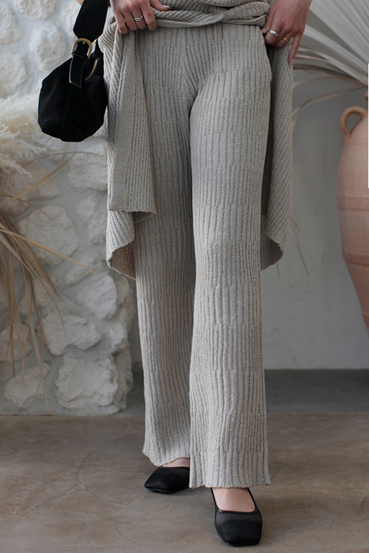 Lib Knit Wide Pants