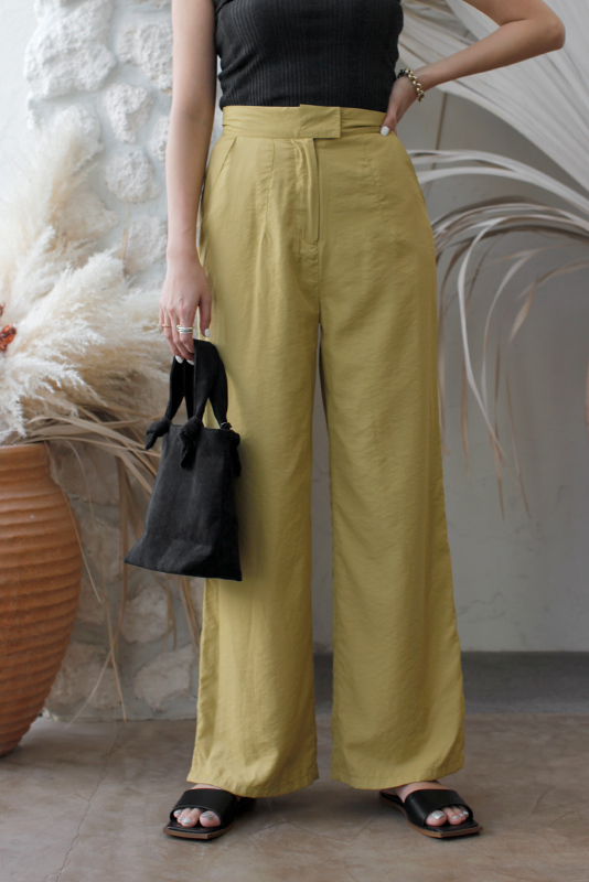 Matt Satin Wide Pants