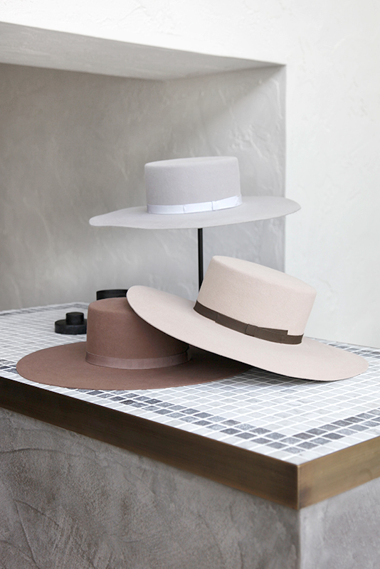 Plain Wool Wide Hat