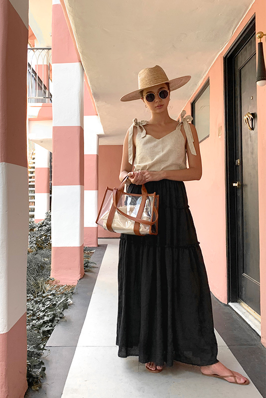 Tiered Design Maxi Skirt