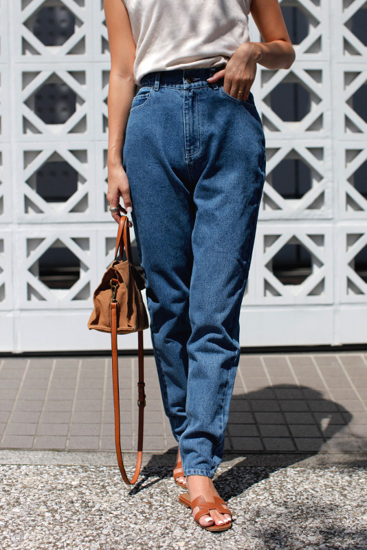 Stitch Tapared Denim Pants