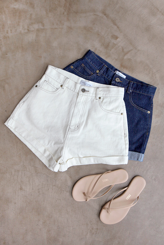 Roll-up Denim Short Pants