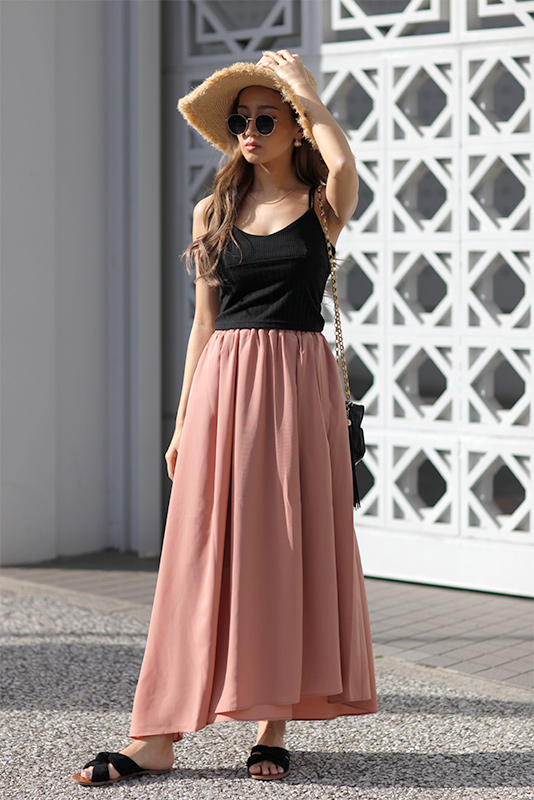Asymmetry Maxi Skirt