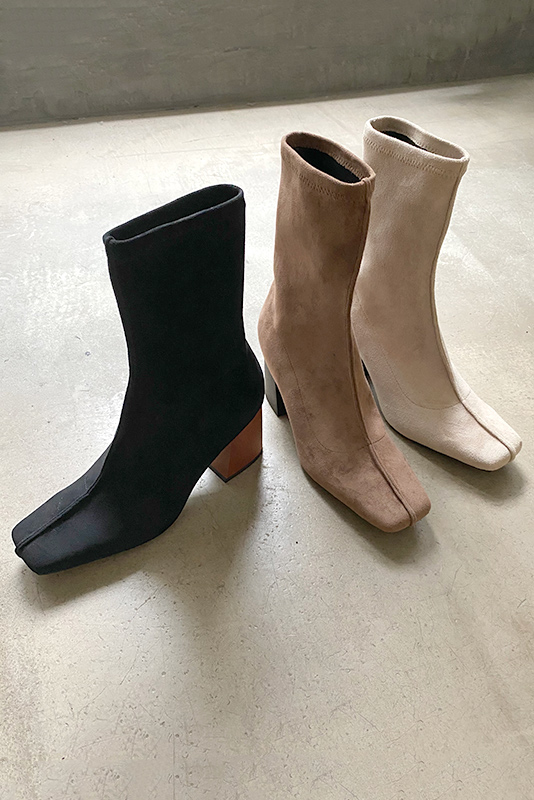 Center Seam Suede Boots