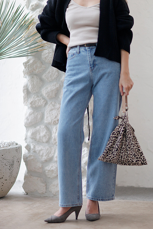 Wide Hi Denim Pants