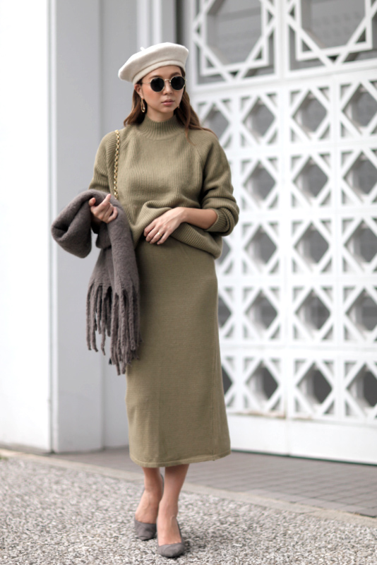 Knit Maxi Set-up