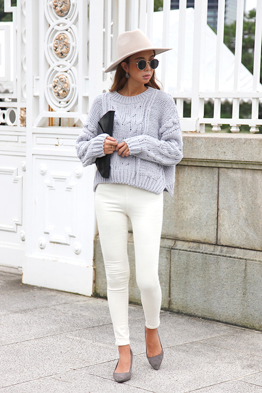 Cable Volume Knit Tops