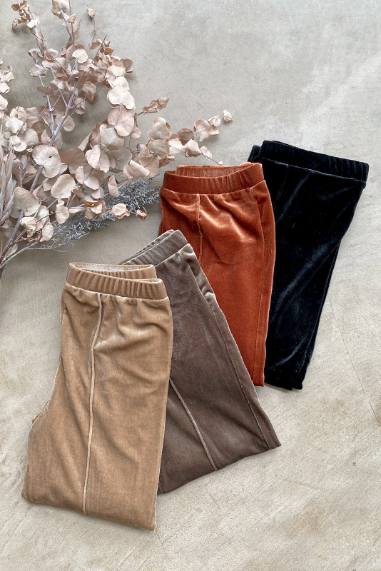 Center Line Velours Leggings Pants